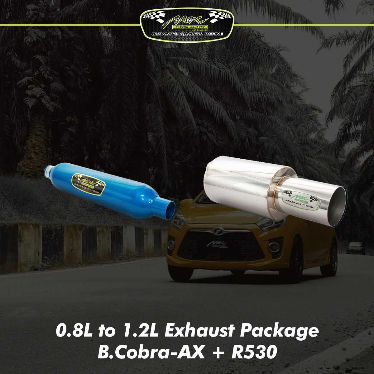 Perodua Axia Exhaust Package  Max Racing Exhaust