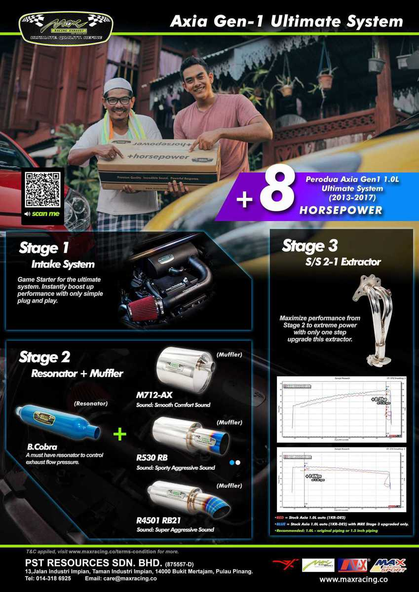 AXIA GEN 1 ULTIMATE SYSTEM 8hp brochure