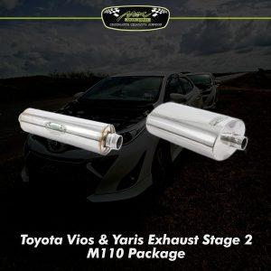 Vios Yaris Exhaust Stage 2 Upgrade M110 2
