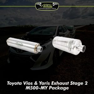 Vios Yaris Exhaust Stage 2 Upgrade M500 MY 2