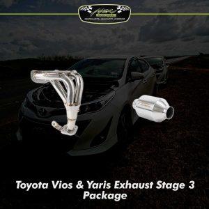 Vios Yaris Exhaust sTAGE 3 PACKAGE